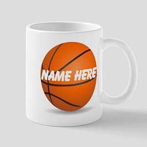 Personalized Basketball Ball Mugs