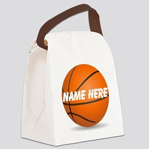 Personalized Basketball Ball Canvas Lunch Bag