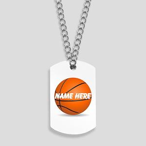 Personalized Basketball Ball Dog Tags