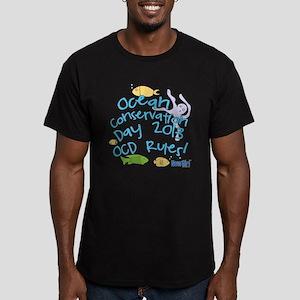 New Girl OCD Men's Fitted T-Shirt (dark)