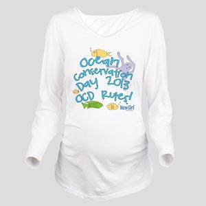 New Girl OCD Long Sleeve Maternity T-Shirt