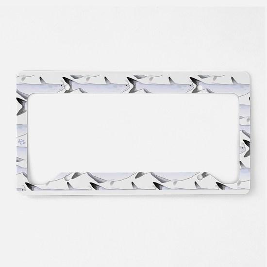 Blue Catfish Pattern License Plate Holder