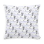 Blue Catfish Pattern Everyday Pillow