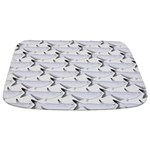 Blue Catfish Pattern Bathmat