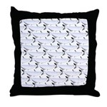 Blue Catfish Pattern Throw Pillow