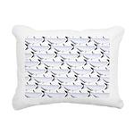 Blue Catfish Pattern Rectangular Canvas Pillow