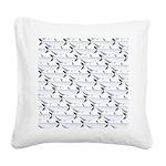 Blue Catfish Pattern Square Canvas Pillow