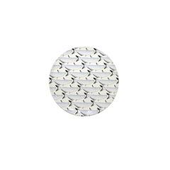 Blue Catfish Pattern Mini Button (100 pack)