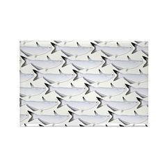 Blue Catfish Pattern Magnets