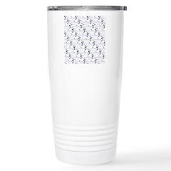 Blue Catfish Pattern Travel Mug