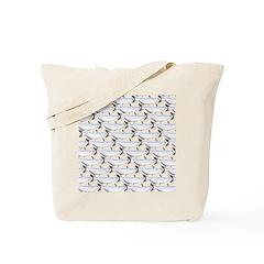 Blue Catfish Pattern Tote Bag