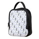 Blue Catfish Pattern Neoprene Lunch Bag