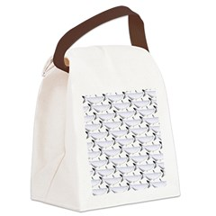 Blue Catfish Pattern Canvas Lunch Bag