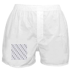 Blue Catfish Pattern Boxer Shorts