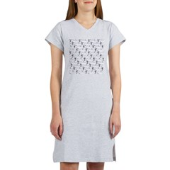 Blue Catfish Pattern Women's Nightshirt