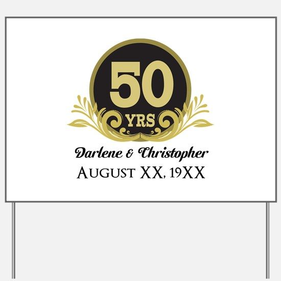 50th Anniversary Personalized Yard Sign