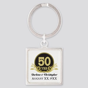 50th Anniversary Personalized Keychains