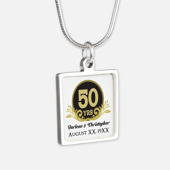 50th Anniversary Personalized Necklaces