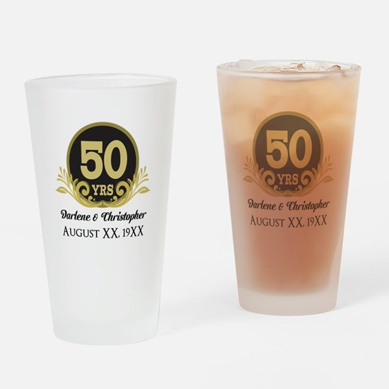 50th Anniversary Personalized Drinking Glass
