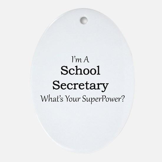 School Secretary Oval Ornament