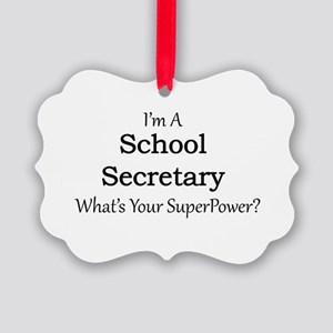 School Secretary Picture Ornament