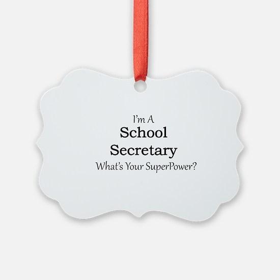 School Secretary Ornament