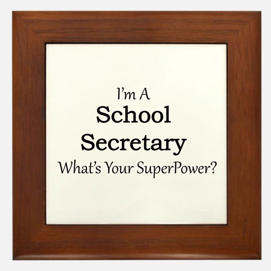 School Secretary Framed Tile