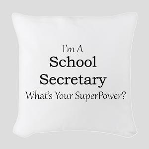 School Secretary Woven Throw Pillow