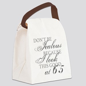 Look Good 65th Birthday  Canvas Lunch Bag