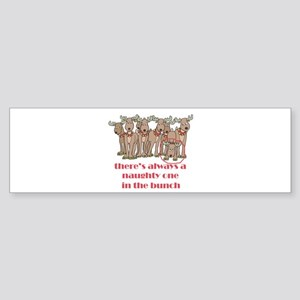 Naughty Reindeer Bumper Sticker