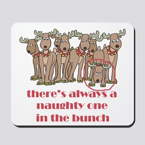 Naughty Reindeer Mousepad