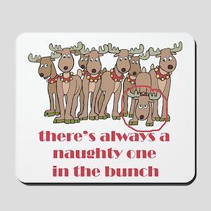 Naughty Reindeer Mousepad