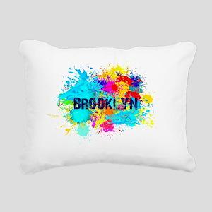BROOKLUN NY SPLASH Rectangular Canvas Pillow