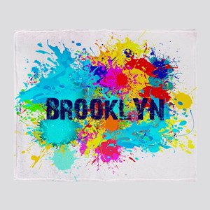 BROOKLUN NY SPLASH Throw Blanket