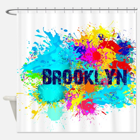 BROOKLUN NY SPLASH Shower Curtain