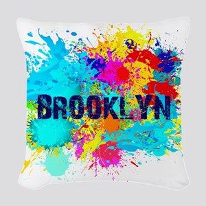 BROOKLUN NY SPLASH Woven Throw Pillow