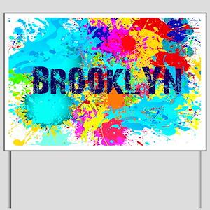 BROOKLUN NY SPLASH Yard Sign