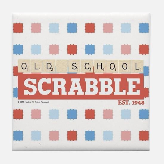 Old School Scrabble Tile Coaster