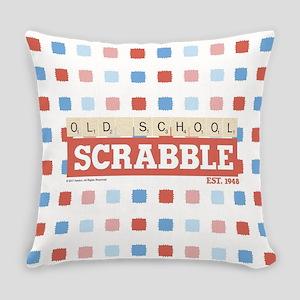 Old School Scrabble Everyday Pillow