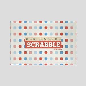 Old School Scrabble Rectangle Magnet