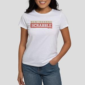 Old School Scrabble Women's Classic White T-Shirt