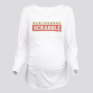 Old School Scrabble Long Sleeve Maternity T-Shirt