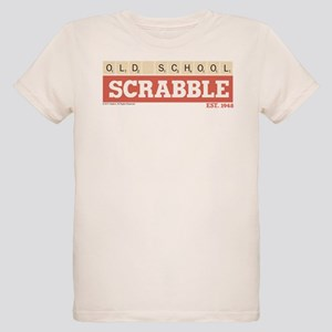 Old School Scrabble Organic Kids T-Shirt