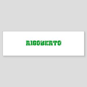 Rigoberto Name Weathered Green Desi Bumper Sticker