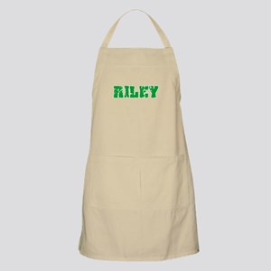 Riley Name Weathered Green Design Light Apron