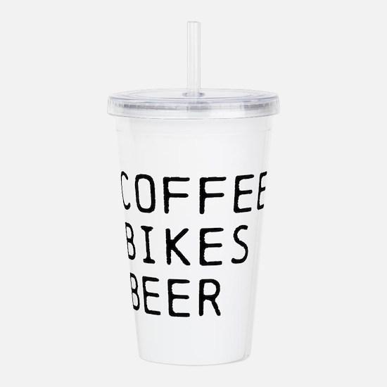 COFFEE BIKES BEER Acrylic Double-wall Tumbler