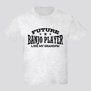 Future Banjo Player Like My Gra Kids Light T-Shirt
