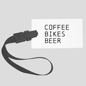 COFFEE BIKES BEER Luggage Tag