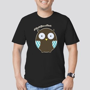 Give A Hoot Men's Fitted T-Shirt (dark)
