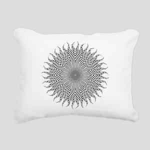 Checkerboard Sun Rectangular Canvas Pillow